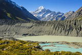 Turquoise Glacier Lake in Front of Mount Cook Photographic Print by  Michael