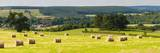 Hay Bale Landscape in Northumberland National Park Photographic Print by Matthew Williams-Ellis