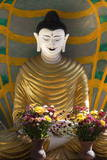 Golden Statue, Monastery, Bagan, Myanmar (Burma), Asia Photographic Print by  Lynn