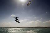 Kite Surfing on Red Sea Coast of Egypt, North Africa, Africa Fotodruck von  Louise