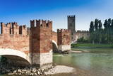 Ponte Scaligero Bridge Outside Castelvecchio Fortress Photographic Print by  Nico