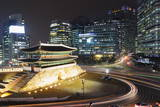 Nandaemun South Gate at Night, Seoul, South Korea, Asia Photographic Print by  Christian
