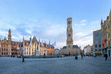 Market Square and the Belfry Photographic Print by  G&M