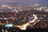 Night View of City, Seoul, South Korea, Asia Photographic Print by  Christian