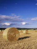 Straw Bales, Swabian Alb, Baden Wurttemberg, Germany, Europe Photographic Print by Markus Lange