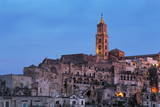 The Campanile and Cathedral at Night in the Sassi Area of Matera, Basilicata, Italy, Europe Photographic Print by  Martin