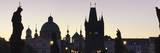 Silhouette of Statues on Charles Bridge Photographic Print by Markus Lange