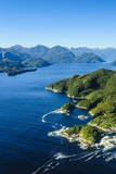 Aerial of a Huge Fjord in Fiordland National Park Impressão fotográfica por  Michael