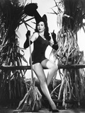 Ann Miller Having a Witchy Halloween at Columbia Photo