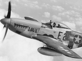 P-51 Mustang Fighter Plane in Flight. it Was a World War 2 Era Long-Range Photo