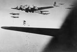 American B-17S Drop Bombs over Meudon Photo