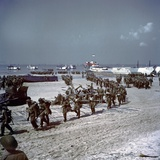 Canadians Soldiers on Juno Beach Photo