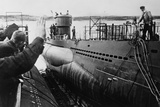 Launching of a German U-Boat During World War 2 Photo