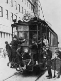 Star of David Attached to a Street Car in Warsaw's Ghetto Photo