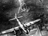 B-17 Bomber During the First Big Raid on Germany by the U.S. 8th Air Force Photo