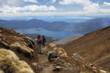 Tongariro Alpine Crossing with View of Lake Taupo Photographic Print by  Stuart