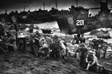 Landing Craft Delivering Marine Invasion Supplies to Iwo Jima Photo