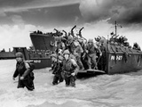 U.S. Soldiers Landing on Utah Beach from the Landing Craft Photo