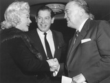 Fbi Director J. Edgar Hoover Shaking Hands with Marilyn Monroe Photo