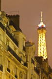 The Eiffel Tower Lit Up at Night, Paris, France, Europe Photographic Print by  Julian