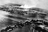 Japanese Photograph Taken During the Attack on Pearl Harbor Photo