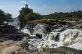 Murchison Falls (Kabarega Falls) on the Nile Fotografisk tryk af Michael