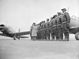 Major James Ellison Reviews First Class of Tuskegee Airmen Photo