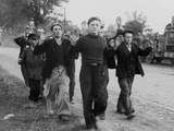 Polish Civilian Men Taken as Prisoners of War by German Invaders. First Month of World War 2 Fotografía