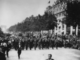 General Charles De Gaulle Leads Paris Victory Parade Photo