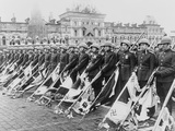 Russian Victory Parade in Moscow at the End of World War 2 Fotografía