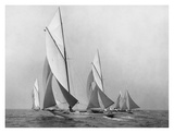 Sailboats Sailing Downwind, CA. 1900-1920 Prints by Edwin Levick