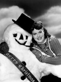 Janis Paige Offering Christmas Greetings Photo