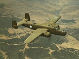 North American Aviation's B-25 Mitchell Bomber in Flight During World War 2 Photo