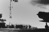 Japanese Aircraft Carrier Crew Waves to Planes Taking Off to Bomb Pearl Harbor Photo