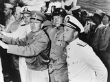 Allied Leaders Inspect the Sicilian Invasion Forces Off the Coast of North Africa Photo