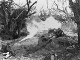 Marines Use a Flame Thrower Against Japanese Defenses Blocking Advance to I Photo