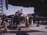 Outdoor Assembly Line at North American Aviation Puts the Finishing Touches on Another B-25 Bomber Photo