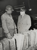 General Dwight Eisenhower Talks with African American Private Edward Clay Photo