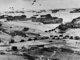 Omaha Beach after D-Day Photo