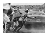 Stock Car in Pit Stop, Daytona, Florida 1974 Poster