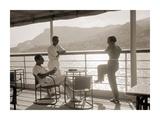 Jeunes Gens Sur le Pont D'Un Bateau Dans la Baie de Monte Carlo, 1920 Posters by Charles Delius