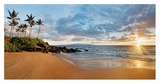 Hawaii, Maui, Makena, Secret Beach at Sunset Prints by Monica and Michael Sweet