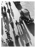 Crowd of People Strolling Down City Sidewalk Posters by  Wolff and Tritschler