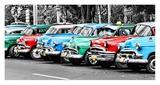 Vintage Cars in Cuba Affiches par John Lynn