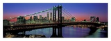 Manhattan Bridge and Skyline III Poster by Richard Berenholtz
