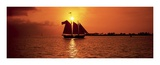 Sailboat at Sunset Posters by James Randklev