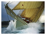 Schooner Adix Sailing in Rough Waters Prints by Onne van der Wal