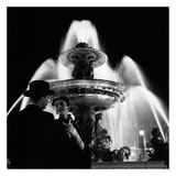 Couple Near Fountain, Paris 1951 Posters by Genevieve Naylor