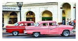 Vintage American Cars in Cuba Art by John Lynn