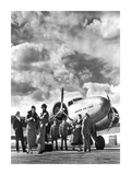 Passenger at Aviation Field at Newark NJ, 1940S Prints by Philip Gendreau